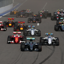 It was chaotic start in Sochi with Vettel being hit twice and forced to withdraw by Kvyat