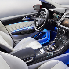 The interior gets a partially leather-covered instrument panels and fabric and leather seats