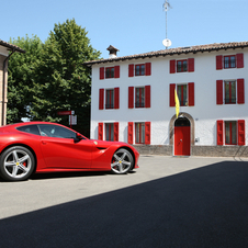 The F12berlinetta accelerates from 0 to 200 km/h in 8.5 seconds.