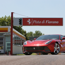Ferrari states that the F12berlinetta is able to reach a top-speed above the 340km/h.