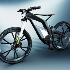 The Audi ebike offers a 3hp electric motor to help power the carbon fiber and CFRP bike