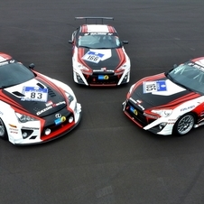 Gazoo Racing is entering four GT-86s and one LFA