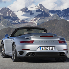 The rear fenders are 28mm (1.1in) wider than even the Carrera 4