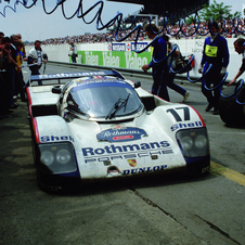 He drove a Porsche 962C in both of his wins