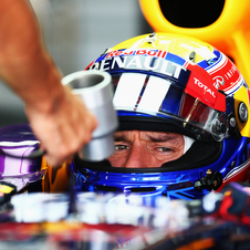 Webber took his first pole position of the season