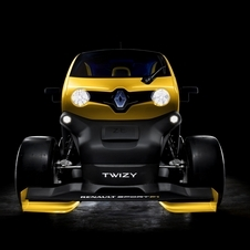 The Twizy Renault Sport F1 Concept puts the KERS unit from an F1 car into Renault's electric car