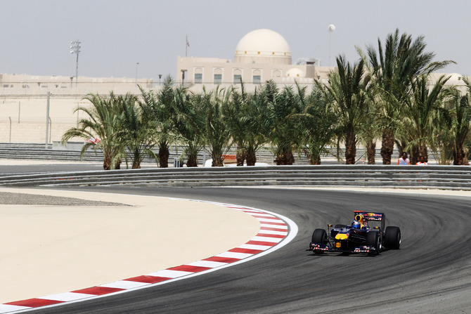 Red Bull at the Bahrain Grand Prix in 2010