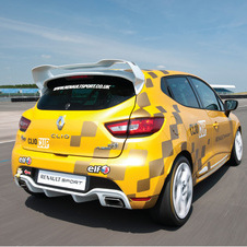 It gets reworked aerodynamics and is based on the Renault Sport Clio 200
