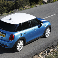 At launch the new five-door model will be available in the Cooper, Cooper D, Cooper S and Cooper SD versions