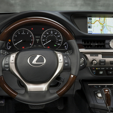 The interior has the very horizontal dashboard that started on the GS