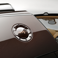 The car has Rembrandt Bugatti's own signature laser-engraved on the fuel filler flap