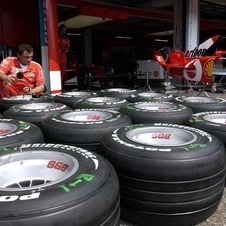 Bridgestone supplied tires in F1 for 14 years