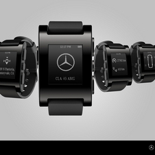 The Pebble Mercedes smart watch integrates into the car's systems to provide information at all times