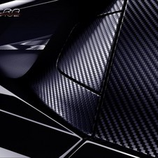 The car uses extensive carbon fiber and kevlar