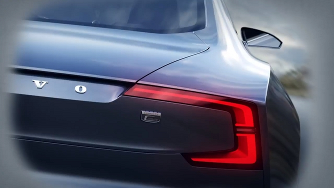 The rear has boomerang-shaped taillights
