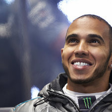 Hamilton dropped one position compared to qualifying to take third
