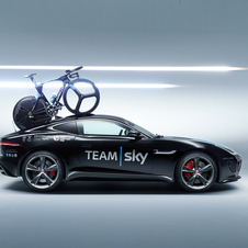 Normally teams use station wagons with larger space, in Team Sky's case, the Jaguar XF Sportbrake