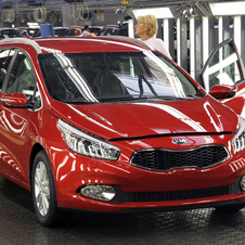 The Kia Cee'd Sportswagon has entered production at its Zillna factory