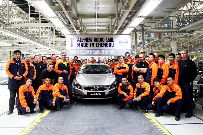 The S60L enters production in China