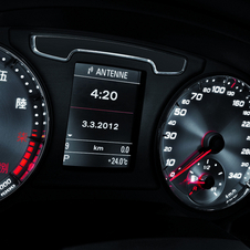 The shiny gauges with Chinese numerals are one of the car's biggest negatives