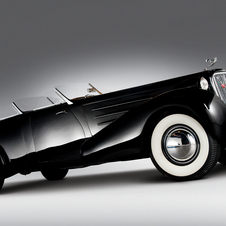 The 1937 Phaeton has a double windshield