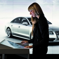 The Audi City stores show the cars in full size in every color with any option