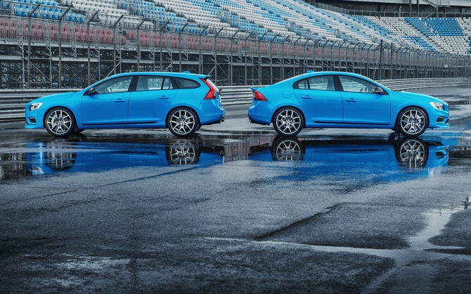 Polestar has tuned the cars with new turbos and new intercoolers