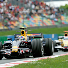 In the 2008 French Grand Prix at Magny-Cours, Mark Webber qualified 8th and finished 6th.