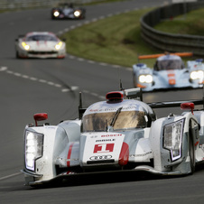 Audi holds the top three spots. Toyota could fight for a podium though