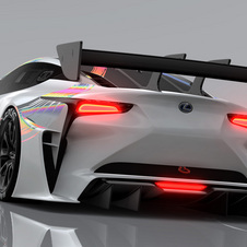 The concept is based on the Lexus LF-FC coupe with the brand's own approach to motorsports competition