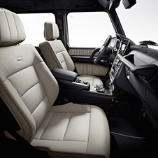 The G-Class keeps the handle on the passenger side