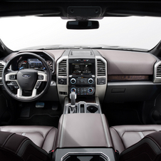 The interior is also upgraded with new features like a 360-degree camera and towing camera