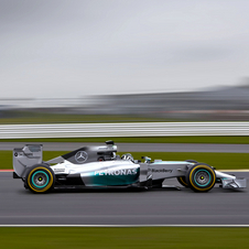 Mercedes unveiled the new W05 at Jerez