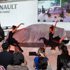 Renault had Chinese dancers on hand as the car was unveiled