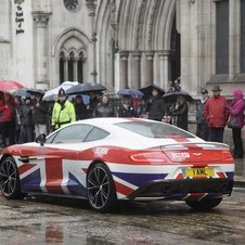 Aston Martin brought several cars to the parade