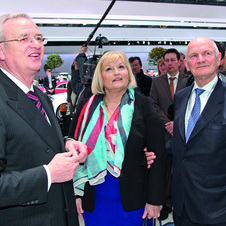 Ursula and Ferdinand Piech (Center and Right) Pose with Prof. Dr. Martin Winterkorn, Chairman of the VW Board of Management