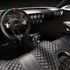 The dashboard is a floating mass of carbon fiber with open footwells