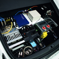 The car is packed with computers and sensors to function