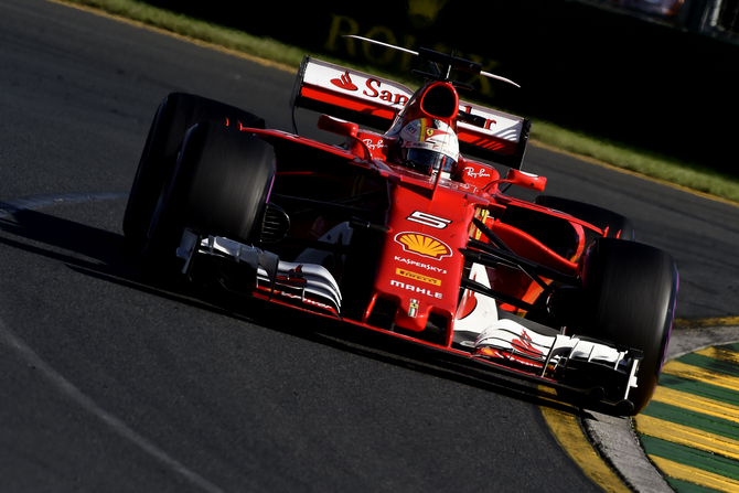Vettel finished first almost 10 seconds ahead Hamilton