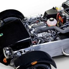 The engine is a modified 660cc three-cylinder turbocharged engine from Suzuki