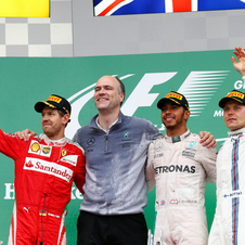 Hamilton won his second race in-a-row