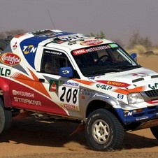 The Pajero won its class is 12 Dakar rallies