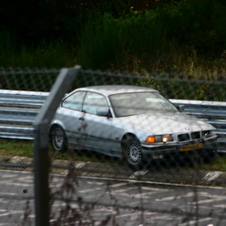 BMW crashed at Nürburgring