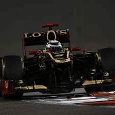 The Lotus E20 proved to be the fastest car in Abu Dhabi