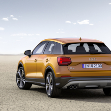 With just 1205kg, the SUV is smaller than the A3 Sportback