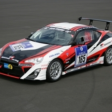 The GRMN GT86 competed in the 24 Hours of the Nurburgring in 2012