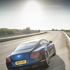 It uses an eight-speed automatic transmission that Bentley says improves fuel economy...