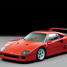 The F40 was produced by Ferrari between 1987 and 1992.