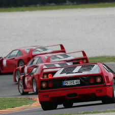 The F40 is actually a supercar with racing technology customized for the road.