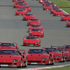 A total of 1315 copies were produced until the F40 was replaced in the markets with the F50 model.
